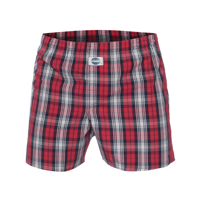 DEAL boxershort Ruit motief Rood, Small