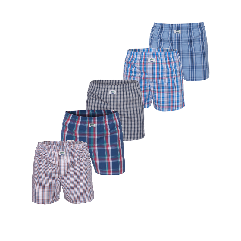 Deal Boxershorts ruitjes 5-pack, Extra large